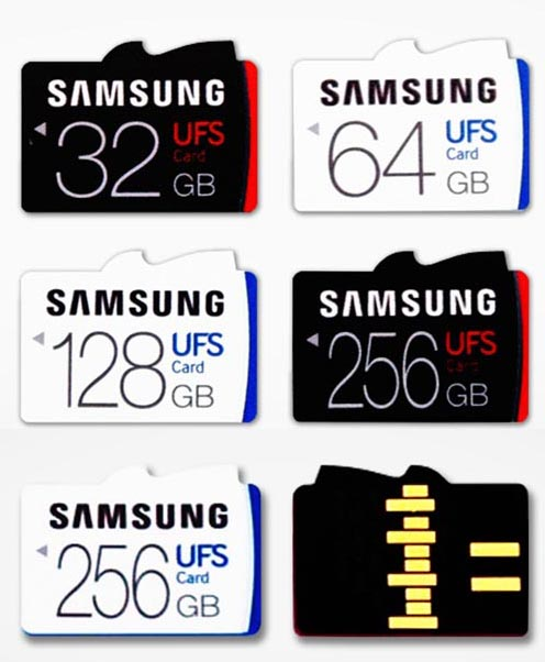 Samsung Introduces World's First Universal Flash Storage Removable Memory Card Line-up, Offering up to 256-Gigabyte Capacity