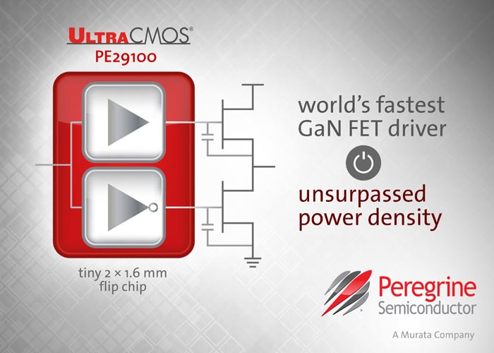 Peregrine Semiconductor Unveils the World's Fastest GaN FET Driver