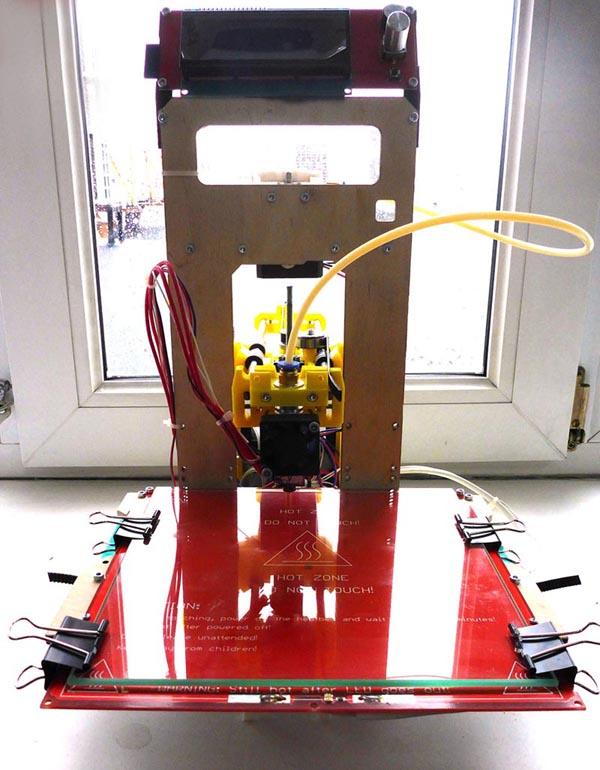 Доработка 3D-принтера MC7 Prime mini от Мастер Кит - установка подогреваемого стола своими руками