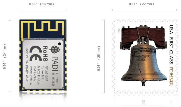 Pine64 Unveils $2 PADI IoT Stamp WiFi IoT Module with FreeRTOS SDK, Upcoming ARM mbed 5.0 Support