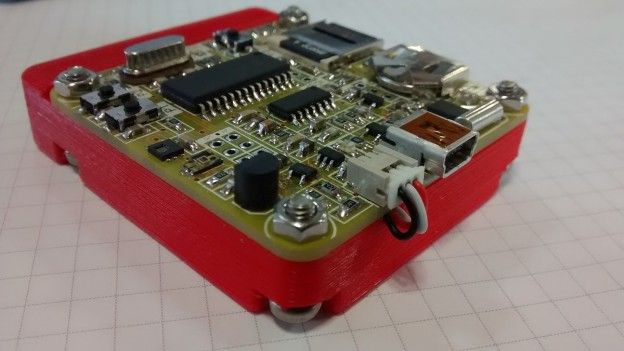 Portable temperature, humidity and light ambient datalogger.