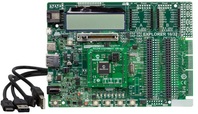 Microchip Explorer 16/32 Development Kit (DM240001-3)