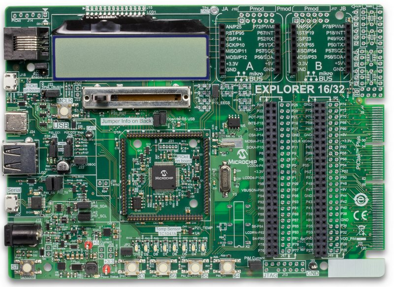 Microchip Explorer 16/32 (DM240001-2) Development Board