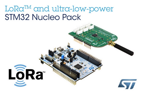 STMicroelectronics Empowers Wireless IoT-Device Developers with New LoRa Kit Leveraging STM32 Microcontroller Ecosystem