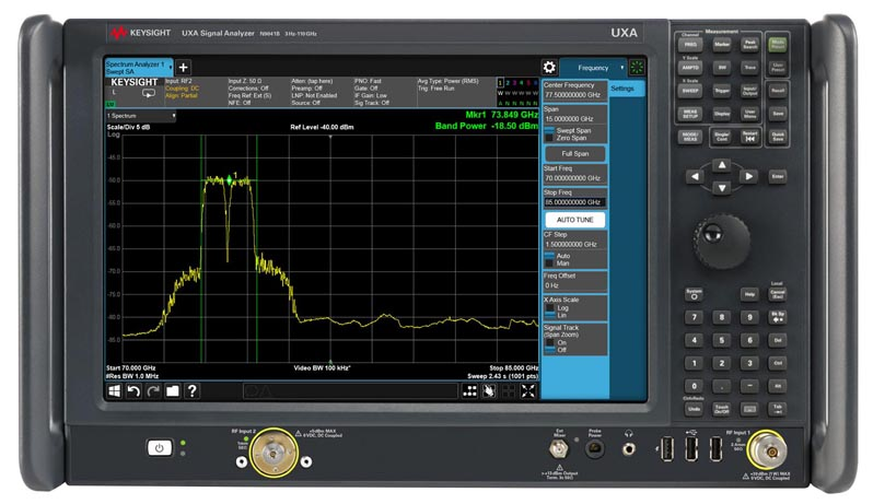Signal analyser delivers continuous-sweep from 3 Hz to 110 GHz