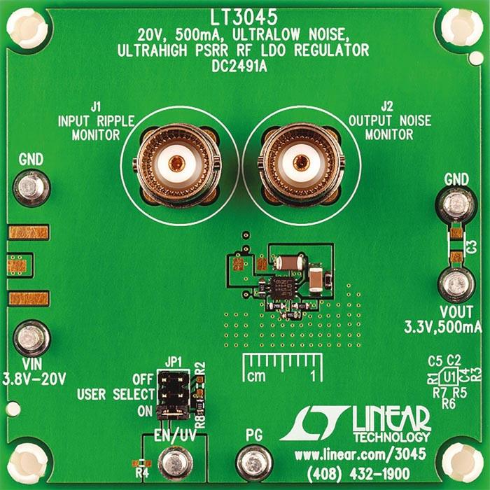 Demo circuit DC2491A with LT3045 LDO regulator