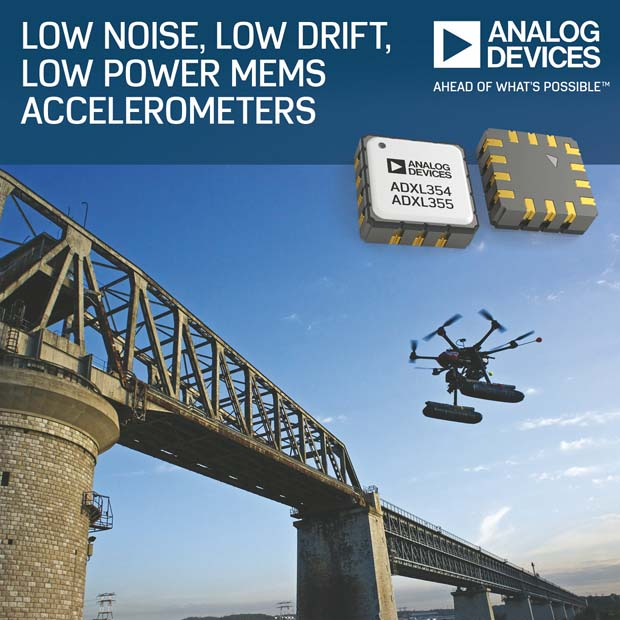 Analog Devices' MEMS Accelerometers Enable Early Detection of Structural Defects