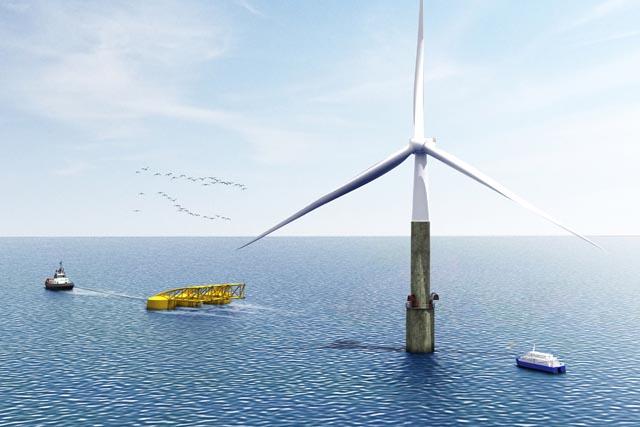 Разработана «самоустанавливающаяся» оффшорная ветряная турбина