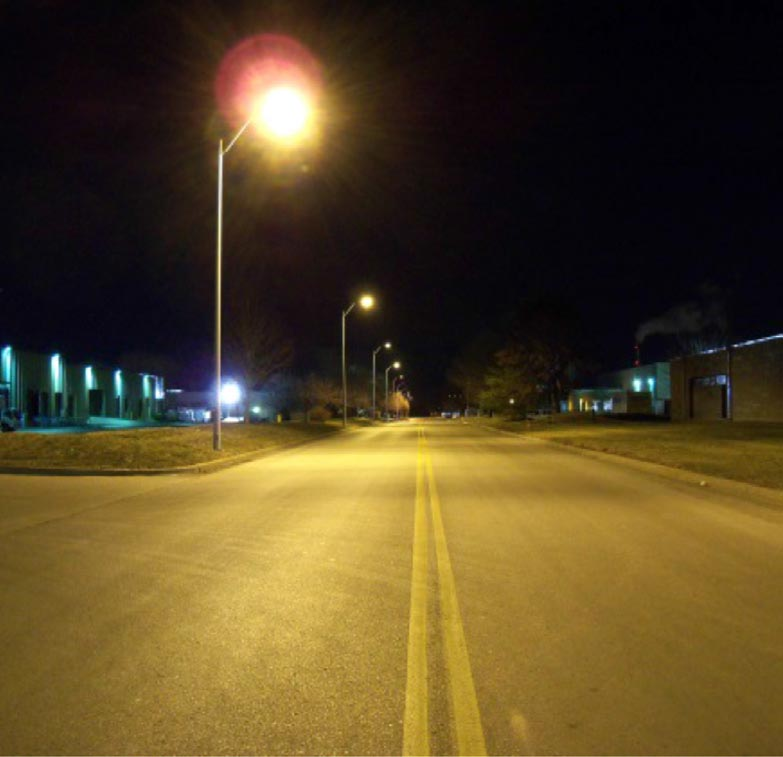 Do LED streetlights look like a prison yard searchlight?