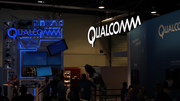 Qualcomm's booth at the 2016 Consumer Electronics Show in Las Vegas. The acquisition will give Qualcomm instant access to a wide array of technologies outside its smartphone expertise