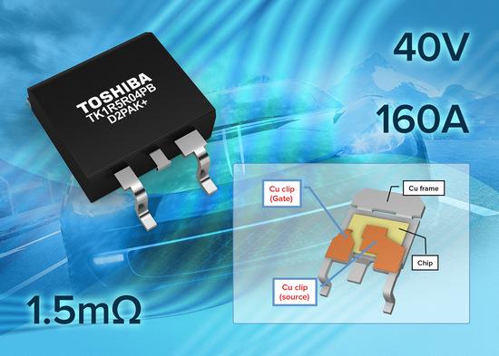 Toshiba представляет МОП-транзистор в корпусе D2PAK+ на 40В и 160А с сопротивлением 1.5мОм для автомобильного применения