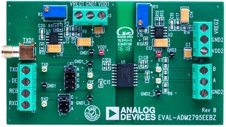The EVAL-ADM2795EEBZ Evaluation Board