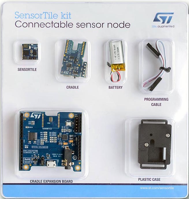 The STEVAL-STLKT01V1 SensorTile integrated development platform