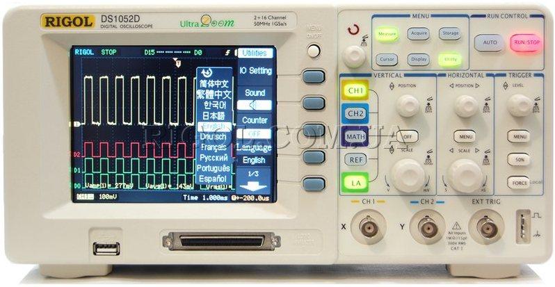 Основные технические характеристики осциллографа DS1052D