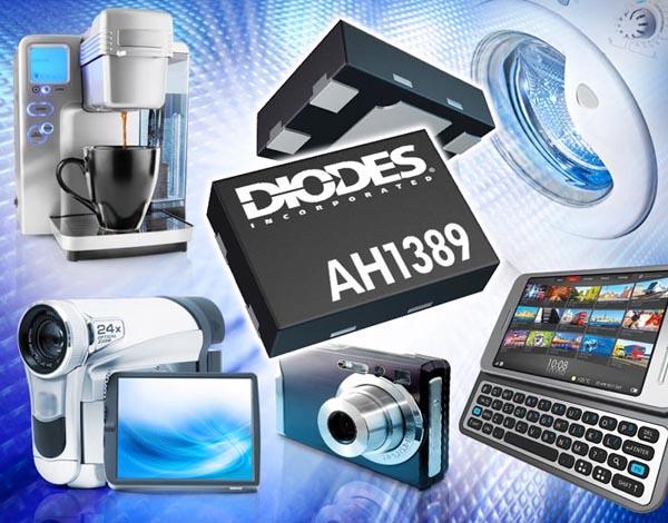 Diodes представляет новую микросхему переключателя на основе эффекта Холла для бытовых и промышленных приложений