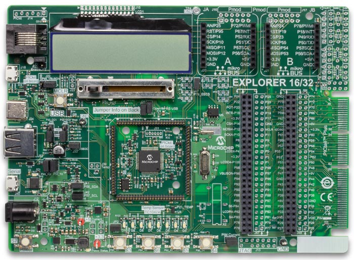 Explorer 16/32 Development Board (DM240001-2)