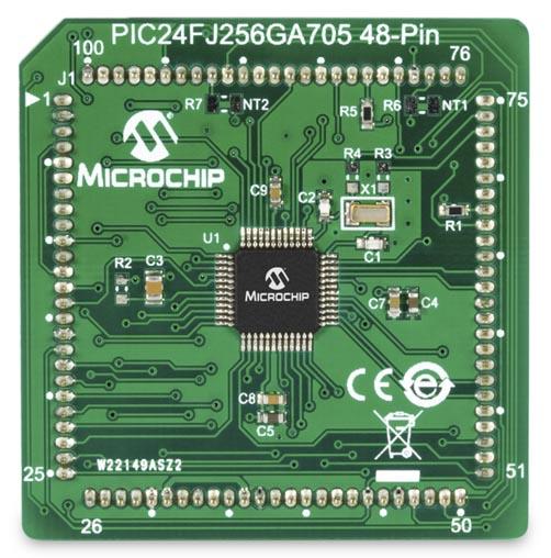 Подключаемый модуль MA240039 с микроконтроллером PIC24FJ256GA705