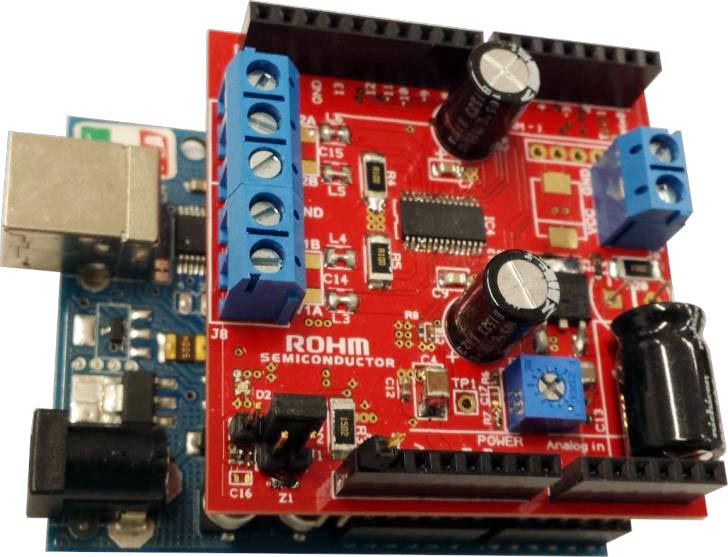 Arduino-compatible shield for stepper motor driver designs