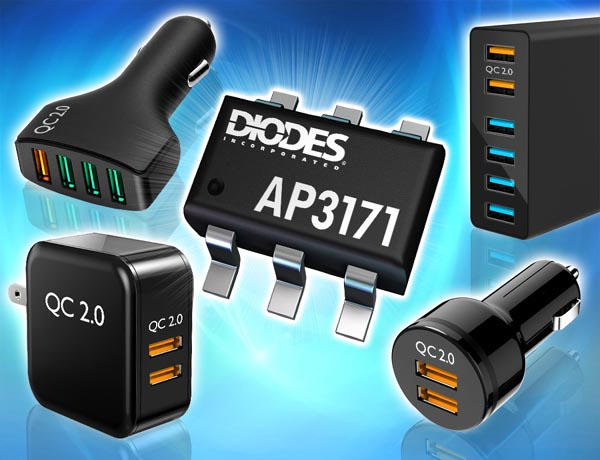 Diodes introduced the synchronous rectification buck converter compatible with Qualcomm Quick Charge 2.0