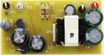 Оценочная плата 2.5-ваттного неизолированного обратноходового преобразователя DER-578 на микросхеме LNK3604D