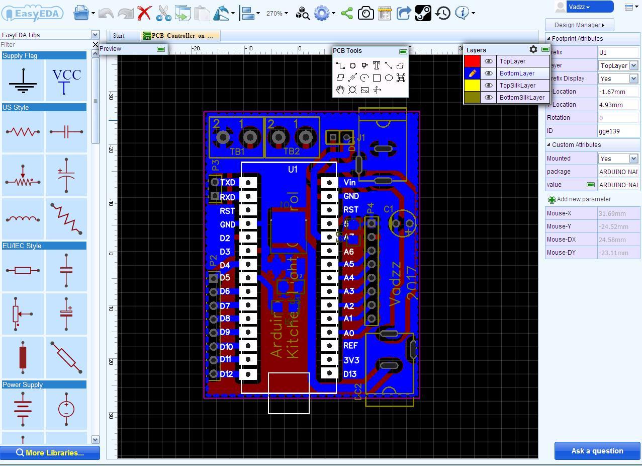 PCB Designing in EasyEDA.