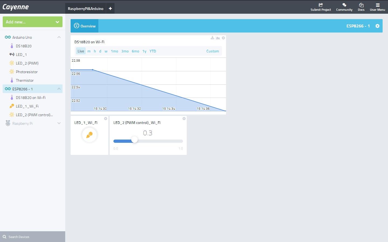 Разработка IoT устройств на Arduino с помощью сервиса myDevices Cayenne