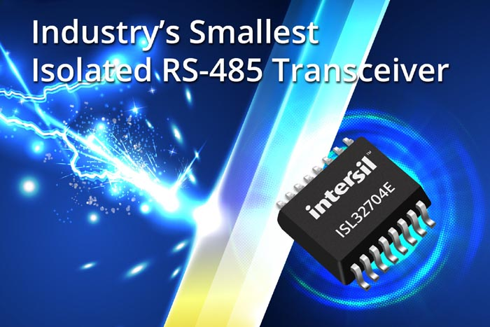 Intersil Announces Industry's Smallest Isolated RS-485 Transceiver
