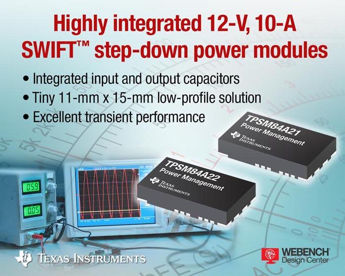 Texas Instruments - TPSM84A21, TPSM84A22