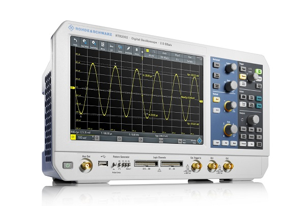 Rohde&Schwarz introduces industry's first entry-level oscilloscope with 10-bit vertical resolution and touchscreen