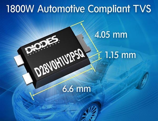 Новые TVS диоды Diodes защитят схемы автомобильной электроники