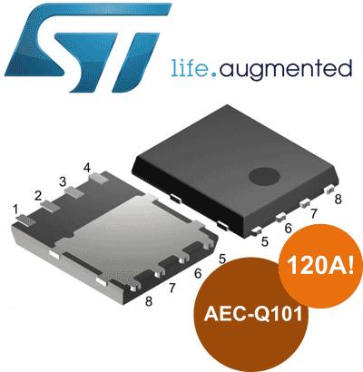 Полевые транзисторы STripFETF7 с токовой нагрузкой до 120 А от STMicroelectronics