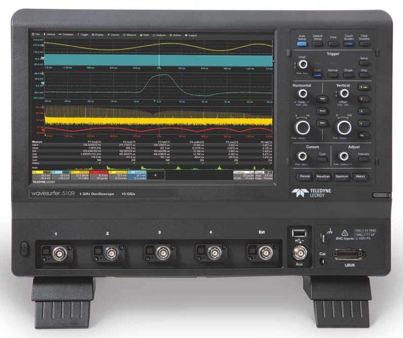 Компания Teledyne LeCroy анонсирует осциллограф WaveSurfer 510R с полосой пропускания 1 ГГц и частотой дискретизации 10 Гвыб/с