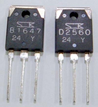 Биполярные транзисторы 2SD2560 и 2SB1647 фирмы Sonken