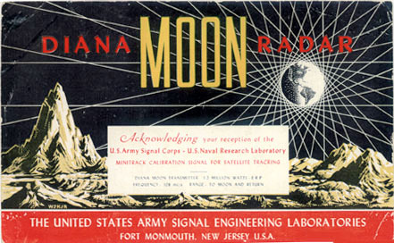 Project Diana bounces radio waves off moon, January 10, 1946