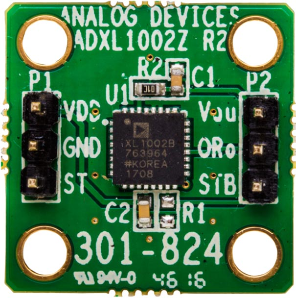 Оценочная плата EVAL-ADXL100X для акселерометров ADXL1001/ADXL1002