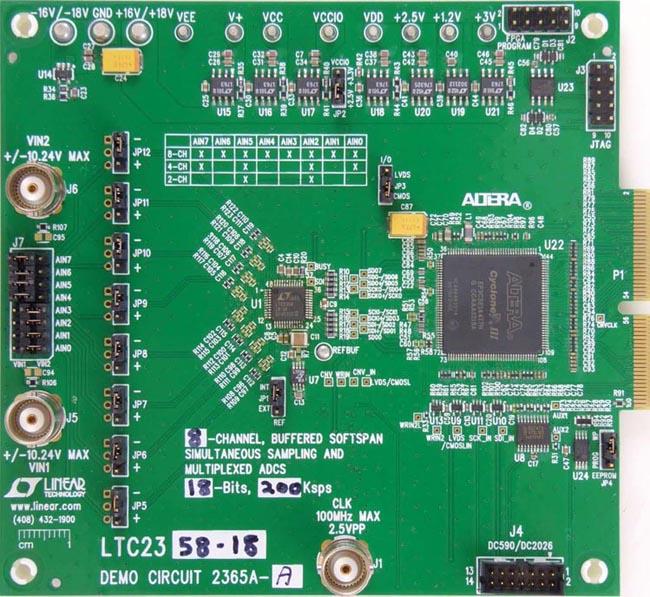 DC2365A-A - LTC2358-18 Demo Board