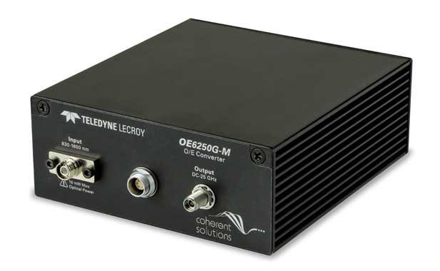 Компания Teledyne LeCroy представила новый оптоэлектронный конвертор OE6250G-M для цифровых осциллографов СВЧ диапазона
