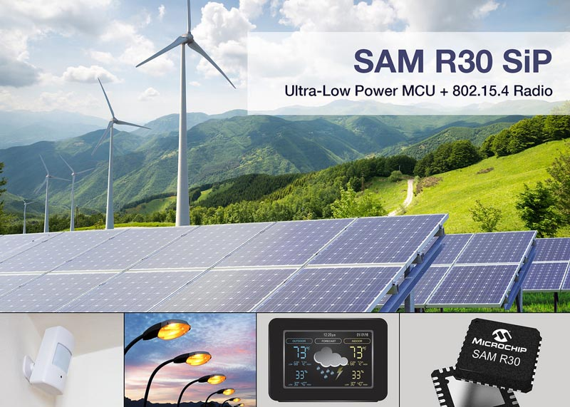 Microchip Unveils the SAM R30 System in Package for Wirelessly Connected Designs