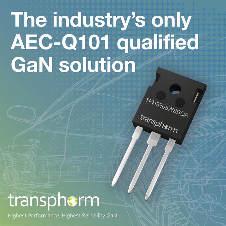 Transphorm анонсирует первые в отрасли высоковольтные GaN МОП-транзисторы для автомобильных приложений