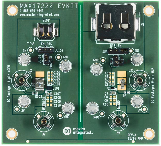 MAX17222EVKIT#: The MAX17222 evaluation kit
