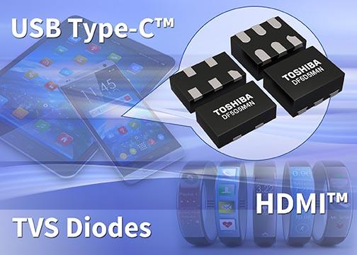Toshiba представляет многоразрядные TVS-диоды для защиты высокоскоростных интерфейсов мобильных устройств