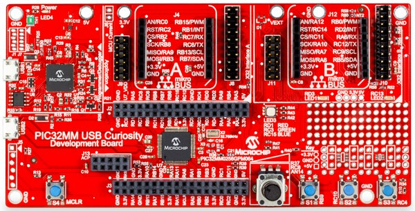 Microchip PIC32MM USB Curiosity Development Board