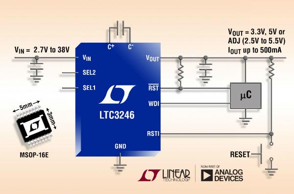 2.7V to 38V/500mA Low Noise Buck-Boost Charge Pump Saves Space and Reduces EMI