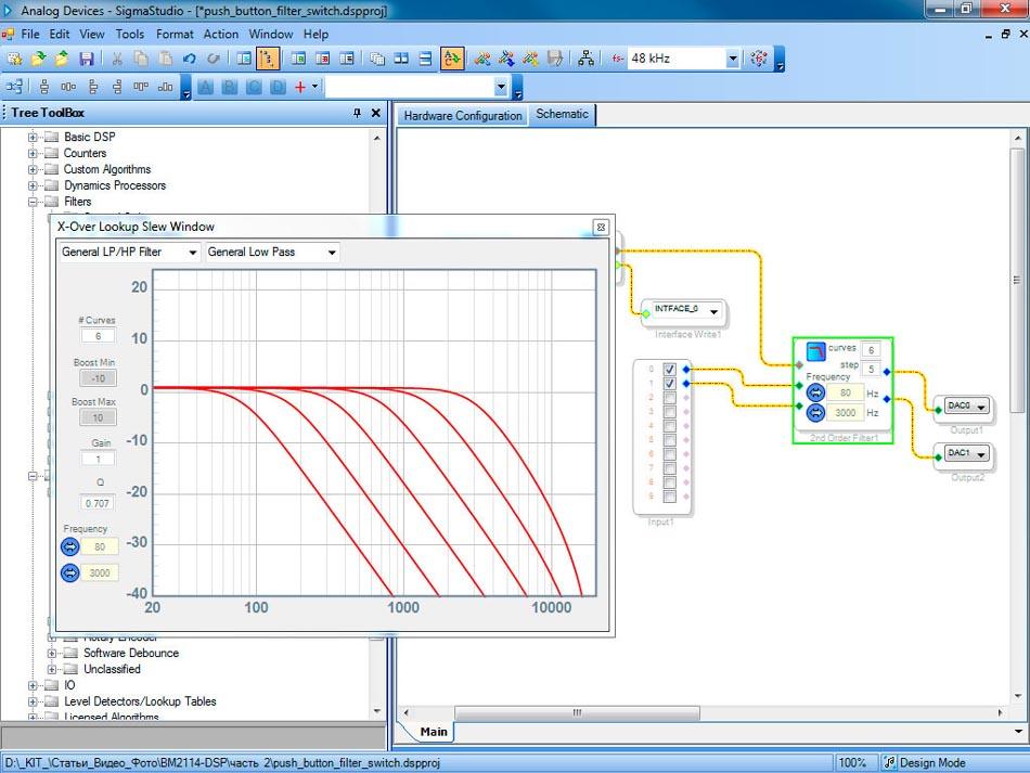 BM2114dsp - Цифровой процессор звука (часть 3). Внешние элементы управления, генерация и обработка звуковых сигналов