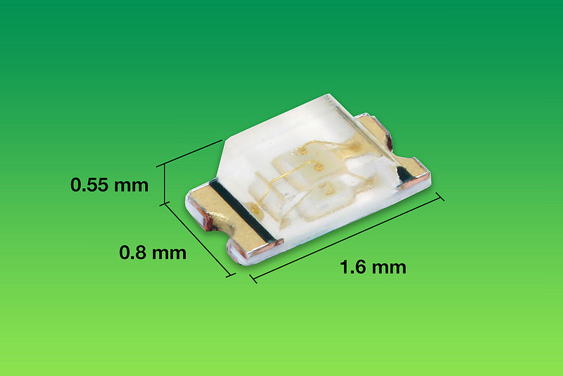 Vishay Intertechnology True Green LEDs in Tiny SMD 0603 ChipLED Package Increase Design-in Flexibility, Enable Smaller End Products