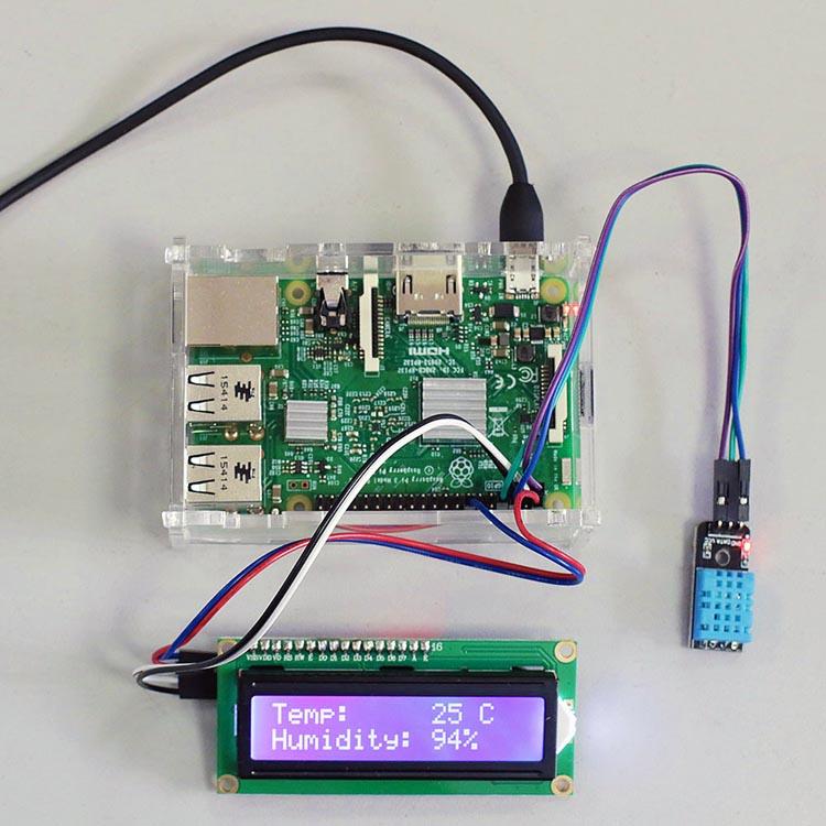 Raspberry Pi 3 - подключаем датчик DHT11 и LCD-дисплей