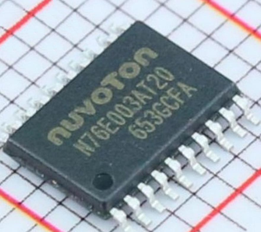 Nuvoton Launches High Performance with Low Pin Count - 1T 8051 N76E003 Microcontroller