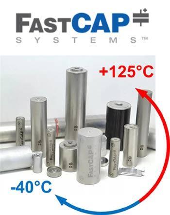 Суперконденсаторы FastCAP для экстремальных условий эксплуатации