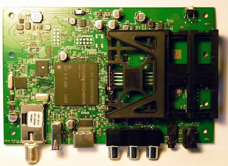 Печатная плата ТВ приставки GS B211.