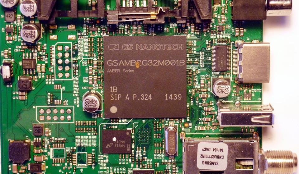Микропроцессор GSAMB2G32M001В серии AMBER производства GS Nanotech.